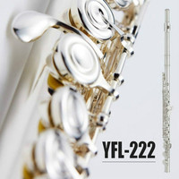 C Tune Flute Cupronickel Tube Silver Plated Flute 17 Holes Open YFL 222 Flute With E Key For Students Musical Instrument