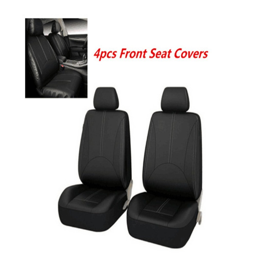 4pcs/Set Fashion PU Leather Car Seat Covers Dustproof Seat Protectors Universal Full Seat Covers For Auto Cars