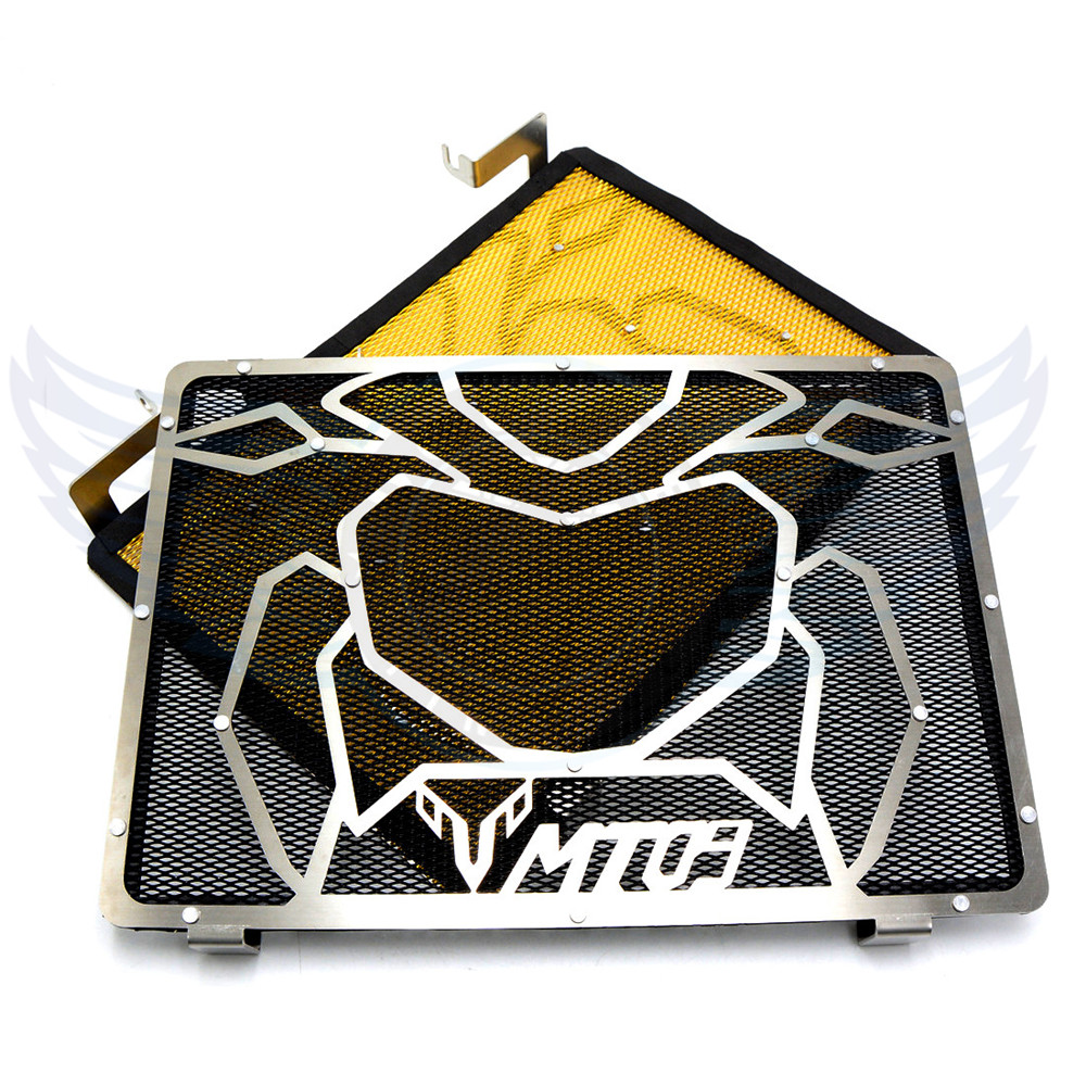 ФОТО high quality 2 colors motorcycle accessories stainless steel radiator guard protector grille grill cover For Yamaha MT09