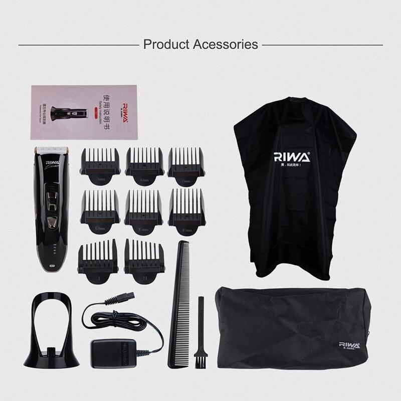 Riwa профессиональная машинка для стрижки волос Машинки для стрижки станок для бритья Электрический Борода волос триммер триммеры Для мужчи...