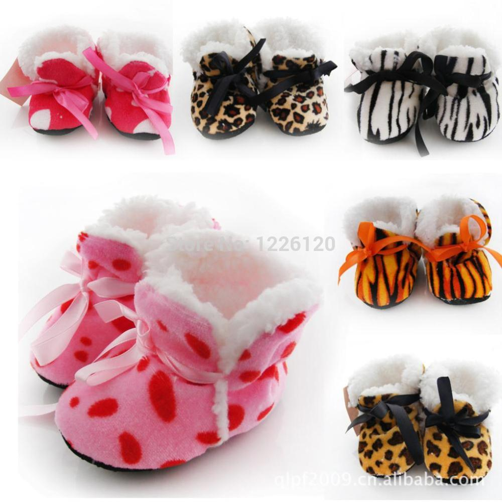 Z101 inch 2015 Winter thicker Shoes Leopard print Baby toddler shoes / baby household - Julia's 2014 store