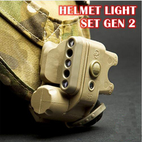 SF Softair Helmet Light Set GEN 2 Military Tactical Light White Red Ir Led Flashlight Fit Bicycle Motorcycle Helmet
