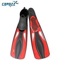 Copozz PP TPR Long Swimming Fins Webbed Diving Flippers Webbed Training Pool Aletas Nadadeira Men Women boots shoes bota