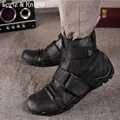 Genuine Leather Mens Ankle Military Tactical Boots Tough Guy Work Boot BLACK