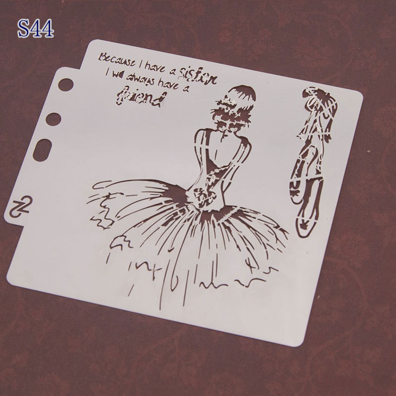 Beautiful Girl Pvc Layering Stencils For Diy Scrapbook Drawing Color Spray Stencil,painting Stencil,home Decor Diy Etc.