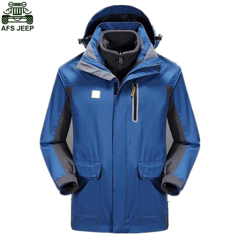 AFS JEEP Brand Ski Jacket Winter Camping Hiking Fishing Climbing Clothing Rain Hunting Clothes Hoodies Waterproof Windproof