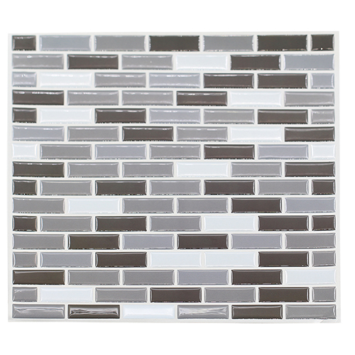 Home Kitchen 3D Mosaic Bricks Style Self Adhesive Wallpaper Wall Sticker