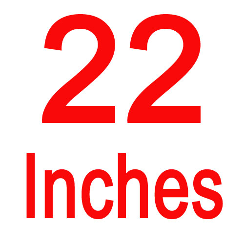 22 inches
