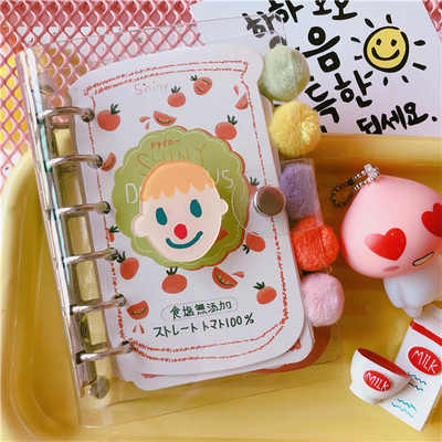 Lovely Girl's Heart Creative Portable Scrapbook Handbook Diary Transparent Laptop Loopbook Coil Book Child gift 100pages|Scrapbooking Sets| |  - title=