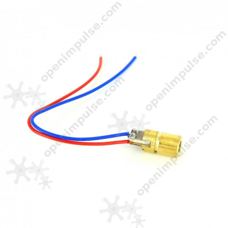 Módulo de diodo láser 5 piezas rojo 6mm