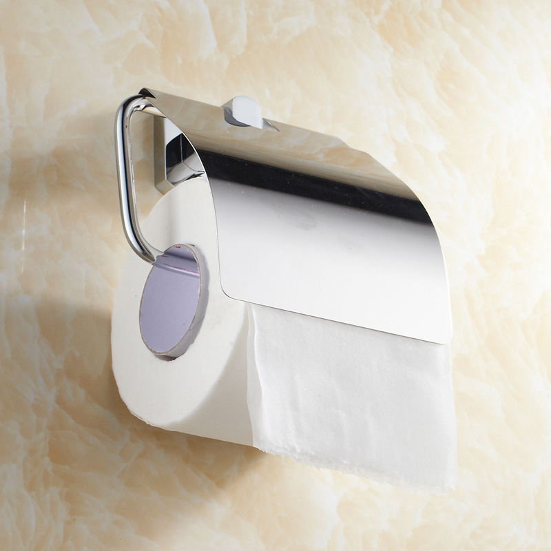 ФОТО Aothpher Chrome Paper Box Roll Holder Bathroom Accessories Toilet Paper Holder Creative Wall Mounted Roll Tissue Holder Bathroom