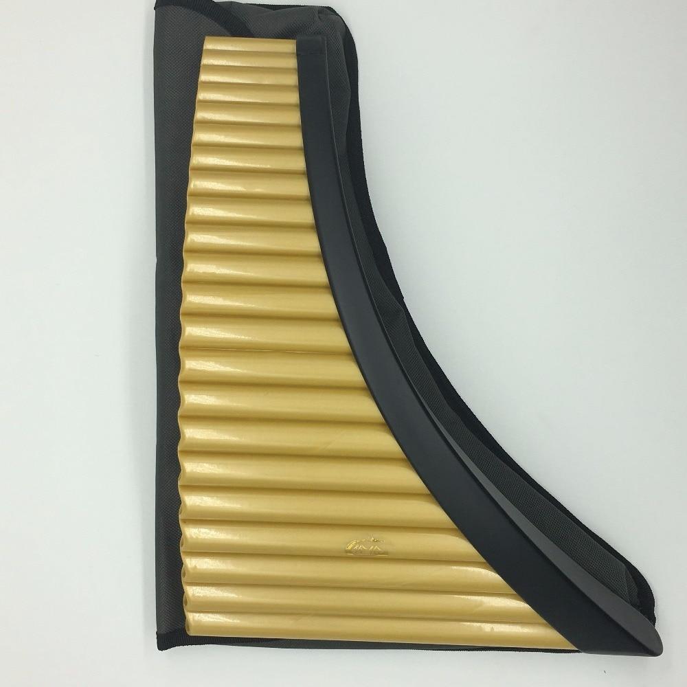 Flûte de pan 22 Tuyaux ABS en plastique ou du Matériel En Bambou Flûte Roumanie G Clé Flûte De Pan Musical Instruments 100% Nouveau Pan flûte avec sac - 2