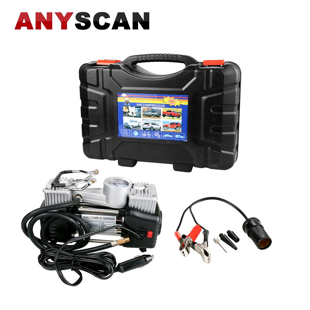 Portable Air Compressor Pump Kit Double Cylinder 150 PSI Power Pump, Auto 12V Tire Inflator for Car Truck RV Bicycle portable 300psl electric car auto bike air compressor tire inflator pump 12v