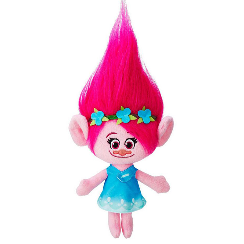 23-36cm Movie Trolls Plush Toy Poppy Branch Dream Works Soft Stuffed Cartoon Dolls Figures The Good Luck Trolls Gift for Child big size 40cm movie trolls poppy plush toy doll poppy dream works soft stuffed toys the good luck trolls gifts for kids children