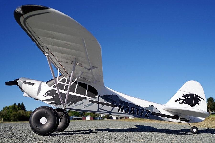 FMS RC Avion 1700mm 1.7 m PA-18 J3 Piper Super Cub 4S 5CH (Flotteurs en option) PNP Formateur Débutant Modèle Avion Aircraft PA18 J-3