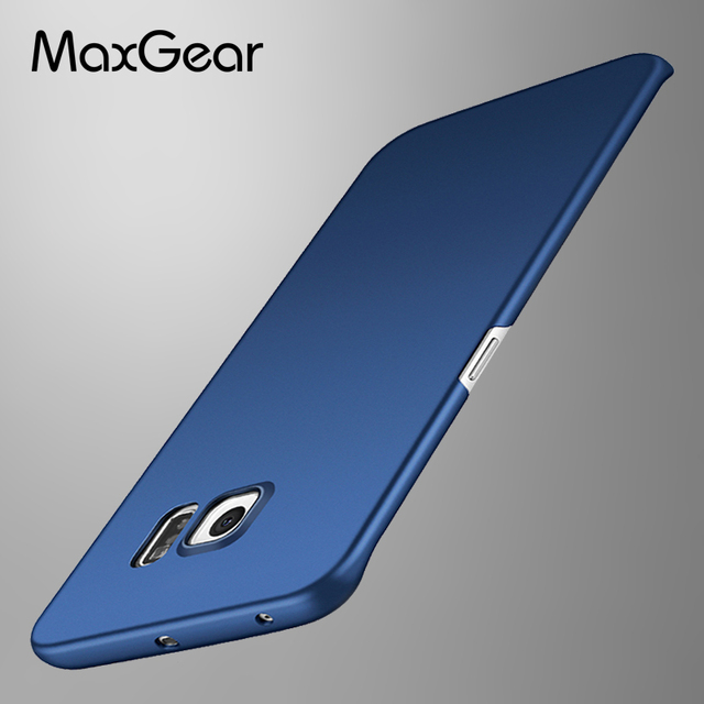 on sale f5cb2 3903d US $2.24 30% OFF|MaxGear Matte Case For samsung galaxy S6 / S6 edge Hard  Coque Back Cover Slim Fashion Phone Housing For Samsung S6 Edge case-in ...