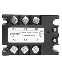 3 Phase Solid State Relay SSR SINOTIMER Brand D4880A 80A DC AC 30 480V AC Output Module Switch Relay relais for Controller