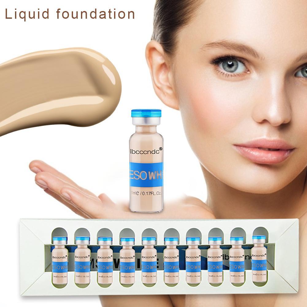 10 teile/satz 5 ML BB Glow Haut Creme Aufhellung Serum Haut Whiteing Concealer Natürliche Nude Make-Up Foundation Kosmetik Maquillaje