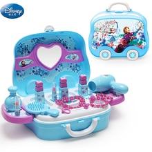 Дисней Замороженные Эльза и Анна Макияж Набор Мода дом Моделирование игрушечный туалетный столик красота ролевые игры для детей подарок на день рождения