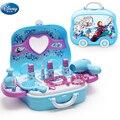 Disney gefrorene elsa und anna Make-Up set Mode Haus Simulation Kommode Spielzeug Schönheit pretend spielen für kinder geburtstag geschenk
