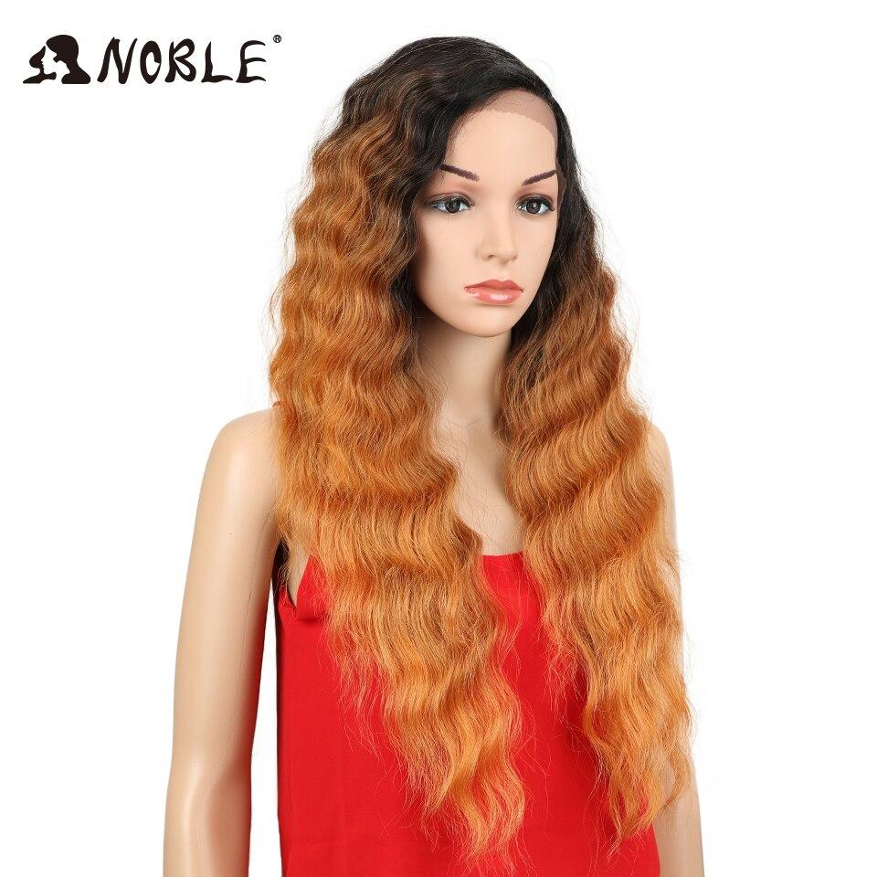 Noble Deep Wave Syntetisk Spets Fram Paryk För Kvinnor Ombre Mörka - Syntetiskt hår - Foto 3
