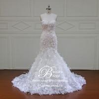 Новый дизайн Русалка Кружева Свадебные платья 2018 Милая 3D Цветок сексуальный Винтаж Свадебные платья Китай интернет магазин