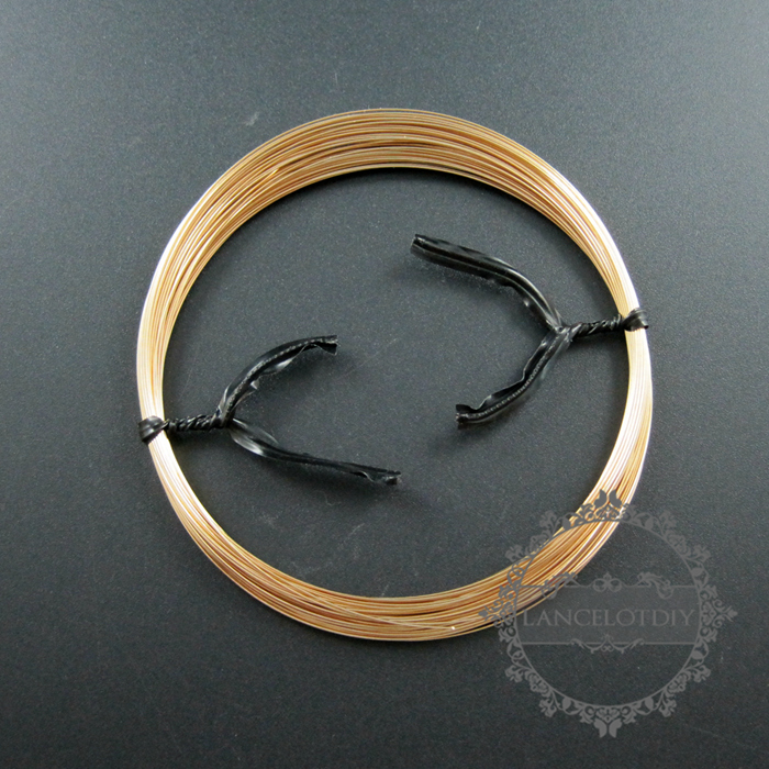 1meter 26gauge 0.41mm Half Hard Gold Filled Color Not Tarnished Beading Jewelry Wire Supplies Wiring Findings 1505017