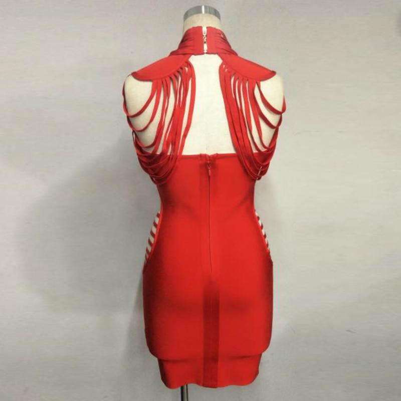 Femmes Moulante Robe Designer De 2018 Bandage Parti Nouveau Piste Mode Évider C0zqxwYZPn