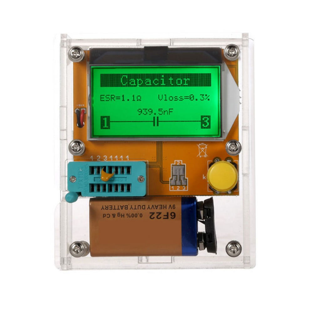 LCD Digital Transistor Tester Meter ESR Transistor Tester Multifunctional Resistor Inductor Capacitor SCR Mos Tube Triode portable integrated circuit tester ic tester transistor tester online maintenance digital led ic tester