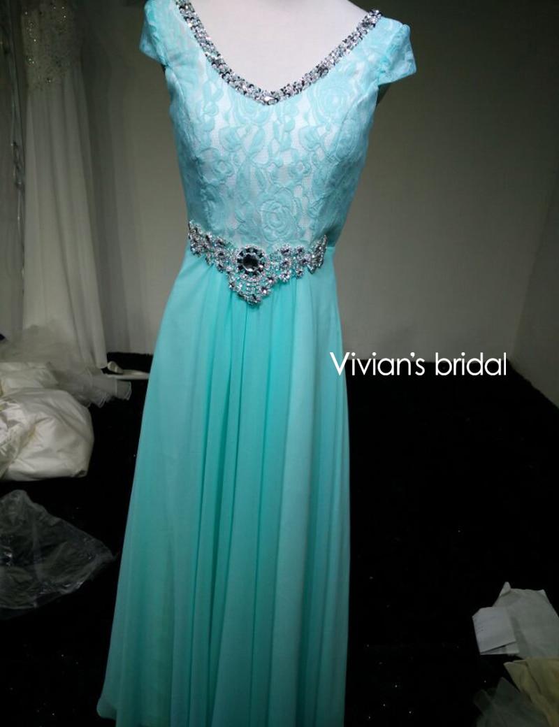 Vivian's Bridal Crystal Beads Ұзын кешкі көйлек - Ерекше жағдай киімдері - фото 6