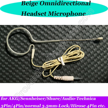 MiCWL Single ear hook Wireless Headset Microphone for Sennheiser Shure AKG Audio-Technica 3Pin 4Pin 3.5mm