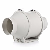 E EMS Free Shipping HON GUAN HF 100P Ventilation System Exhaust Air Mixed Flow Inline Duct