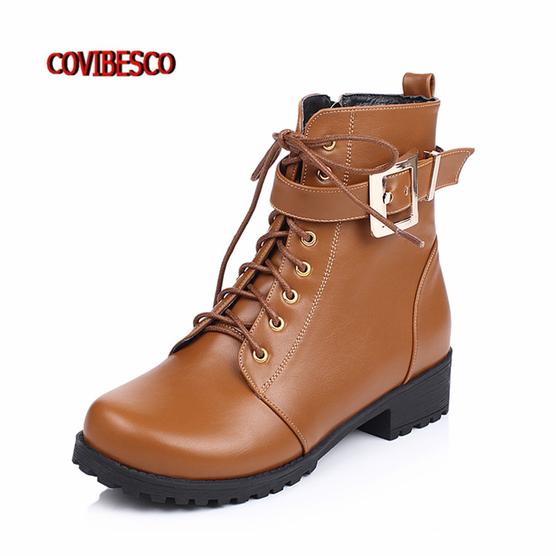 ФОТО Black Yellow High Quality Women Retro Short Motorcycle Boots Flats Heels Comfortable Spring Autumn Shoes Fahsion Buckle Boots