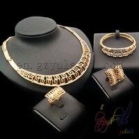 Guangzhou sieraden fabriek licht gewicht goud sieraden set indian bridal kangan set zonder steen