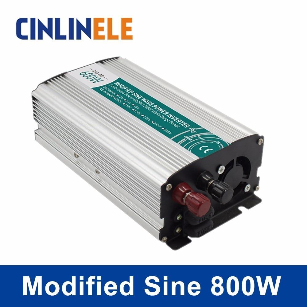 Smart Modified Sine Wave Inverter 800W CLP800A DC 12V 24V to AC 110V 220V Smart  Series Solar Power 800W Surge Power 1600W new lp2k series contactor lp2k06015 lp2k06015md lp2 k06015md 220v dc