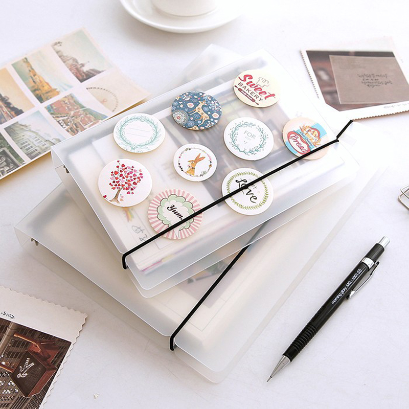 PVC A5 A6 A7 Spiral Notebook Cover Loose Diary Coil Ring Binder Filler Paper Seperate Planner Receive Bag Card Storage(China)
