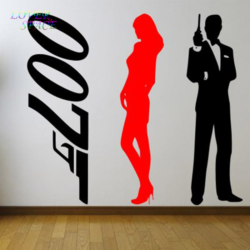 007 Wall Decals James Bond Girl Set Of 3 Stickers - Large Wall Sticker. Many colours New Vinyl Wall Decal LS58153 image