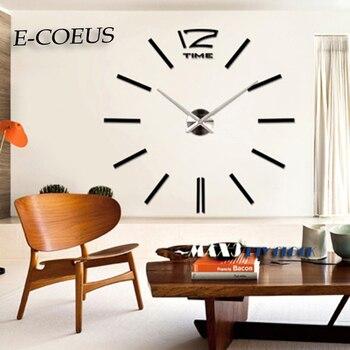 b2b30a9d5cc5 3D de gran tamaño nuevo Color oro reloj-pared casa decoración de moda  pegatinas DIY espejo de Relojes de pared Meetting habitación envío gratis