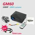 2016 Original GM60 Mini Projector Full Hd 1080P Portable Led Home Cinema Beamer For Video Games TV Support HDMI VGA AV SD 5866