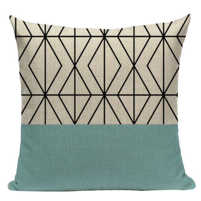 Nordic Pop Geometric Pillowcase Size: L313 Color: L313-17