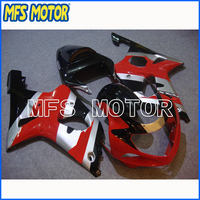 Motorcycle Injection Plastic Fairing Kit For Suzuki GSXR 1000 2000 2002 Red