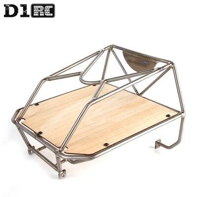 D1RC Original haute qualité seau en métal Cage arrière cage pour Axial AX80046 SCX10 AX90022 chenille RC