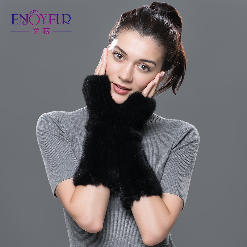 Women winter genuine fur gloves real natural mink fur long Gloves & Mittens 2018 newest good quality fashional warmly glove