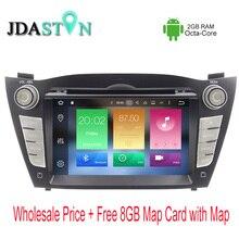 JDASTON 2 DIN Octa Core 2GB Ram Android 6.0.1 Car DVD Player For Hyundai iX35 Tucson 2009-2015  Multimedia GPS Navigation Radio