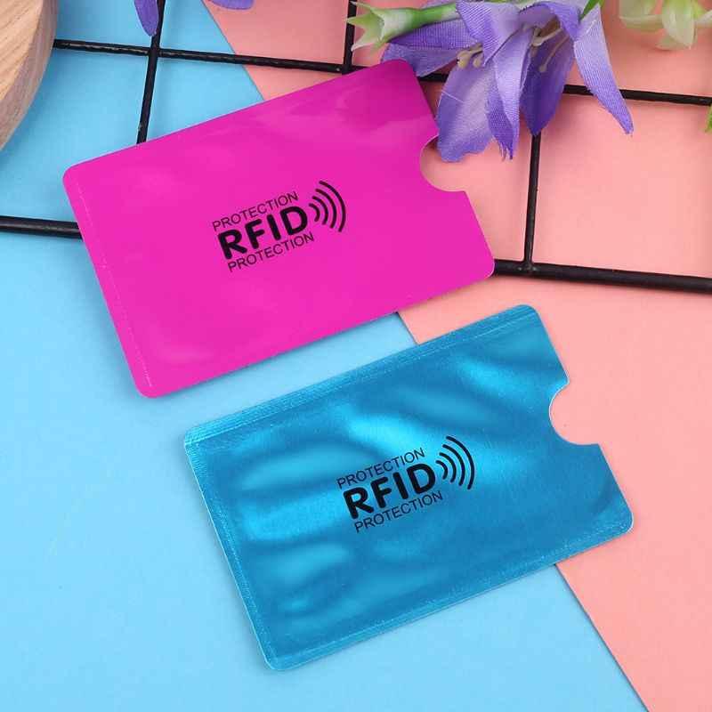 RFID блокирующий рукав с протекторами для банковских карт банк держатель визитных карточек чехол