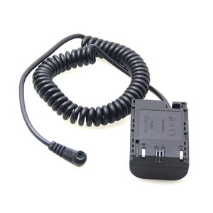 Image 4 - LP E6 Dummy Battery Coupler Adapter with DC Male Connector Power Coiled Spring Cable for Canon 7D 5D Mark IV III II 80D 70D LPE6