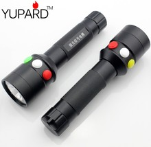 YUPARD High Quality Ultra Bright CREE Q5 LED Red Green Yellow White 7 Mode Flashlight Railway Signal Light outdoor sport camping