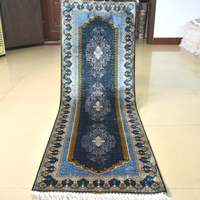 Mingxin 2x6 Feet Hand Knotted Classical Runner Carpet For Hallway Runner Rug Silk Persian Stair Carpets