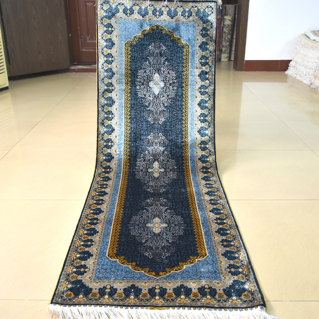 Mingxin 2x6 Feet Hand Knotted Clical Runner Carpet For Hallway Rug Silk Persian Stair Carpets