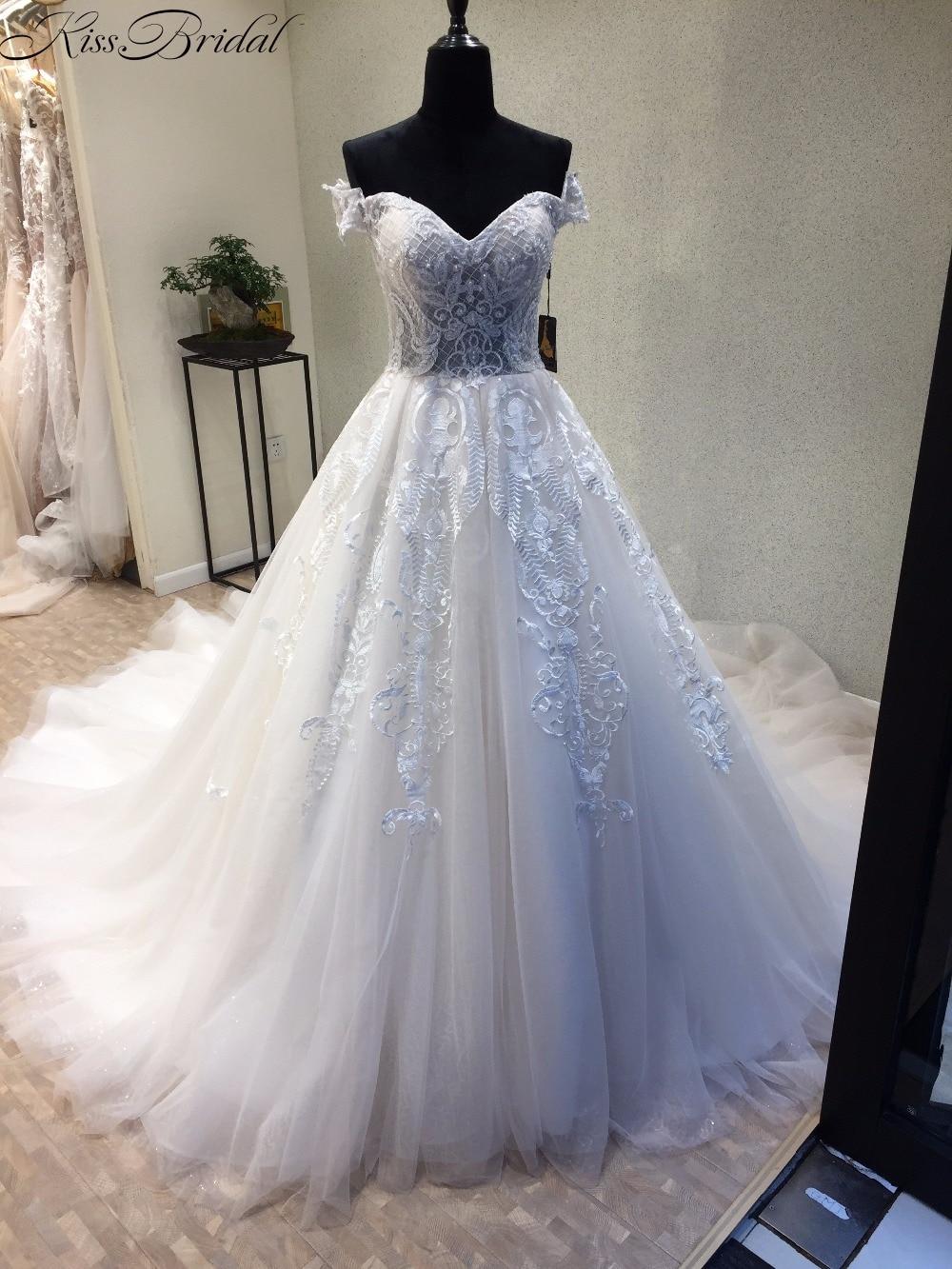 สีขาววินเทจชุดแต่งงาน 2017 - ชุดแต่งงาน